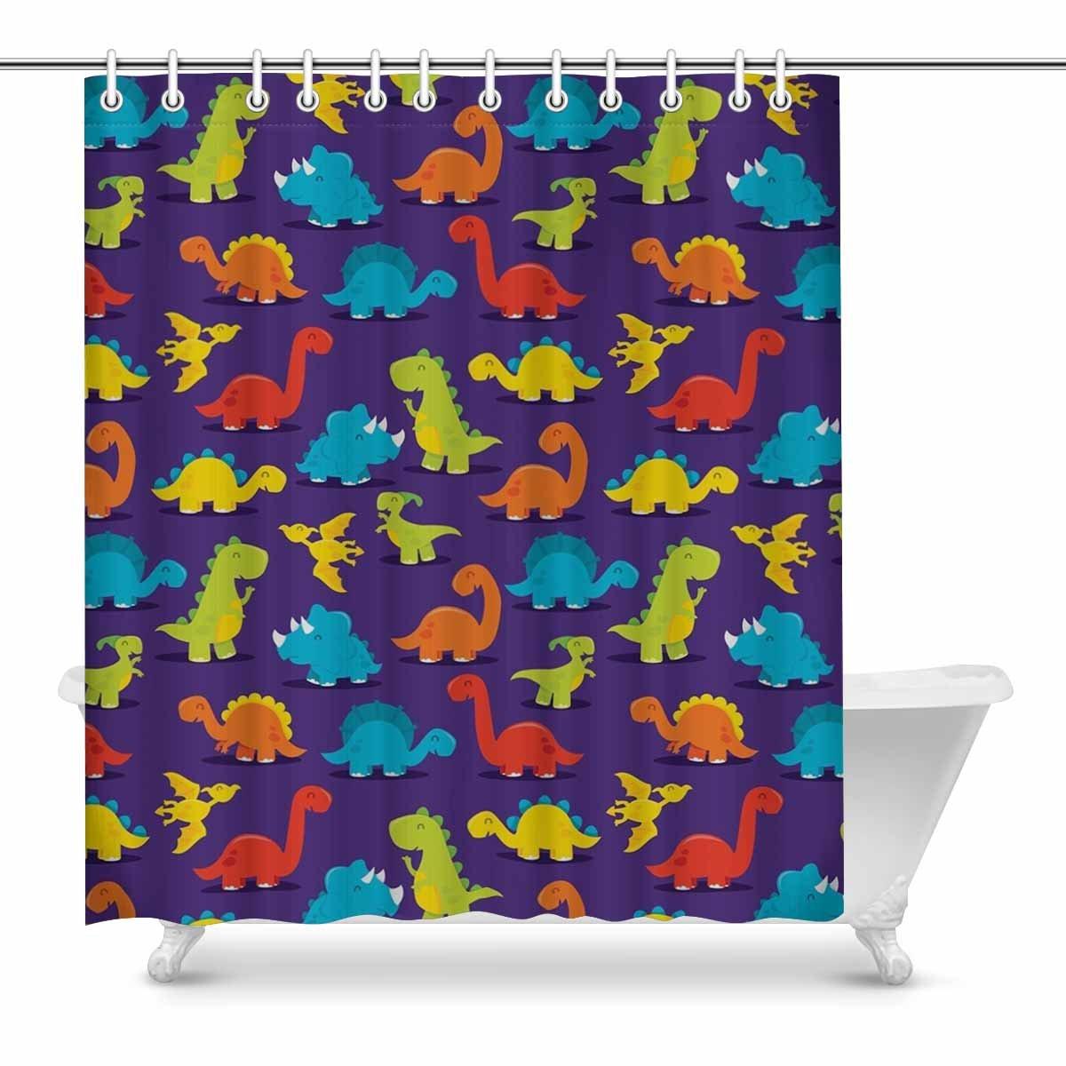 Astonishing Interestprint Lebaism Dinosaur Prints Shower Curtain For Download Free Architecture Designs Jebrpmadebymaigaardcom