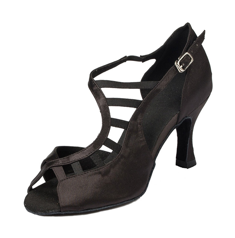 Minitoo Noir à 3 Mariage cm-chaussures à talons pour femme en 19582 Satin pour Mariage Soirée danse-Chaussures Sandales-Latine Noir 39de613 - latesttechnology.space