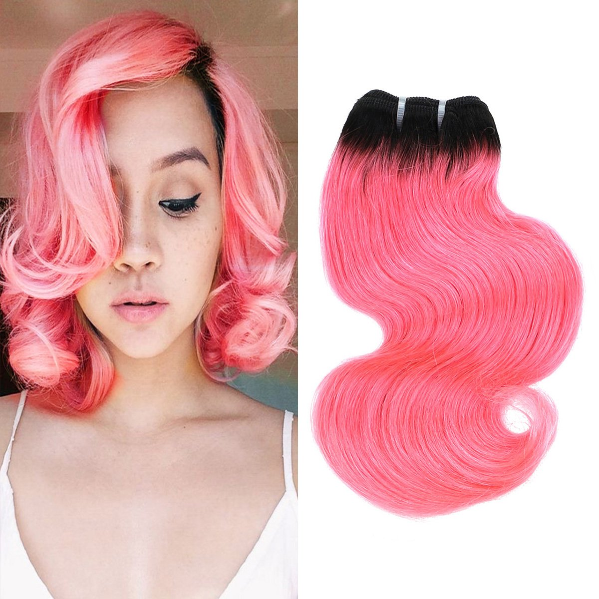 Amazon Fashion Line 4 Human Hair Bundles Bob Ombre Two Tone