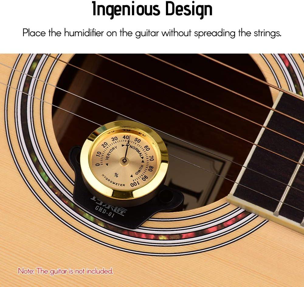 Humidificateur de Guitare Universel Hygrom/ètre Portable ABS Fesjoy Humidificateur Universel pour Guitare mat/ériau m/étallique pour Guitare Folk Guitare Classique Toutes Les Guitares acoustiques