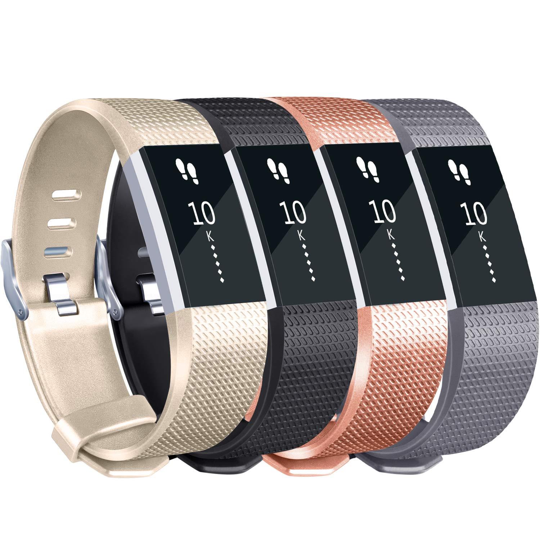 Mallas De Reloj Fitbit Charge 2 (4 Unidades)