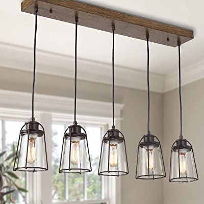 Buy Farmhouse Chandelier Industrial Pendant Lighting For Kitchen Island 5 Light New Modern Kitchen Light Fixtures Online In Turkey B08fybf8lw