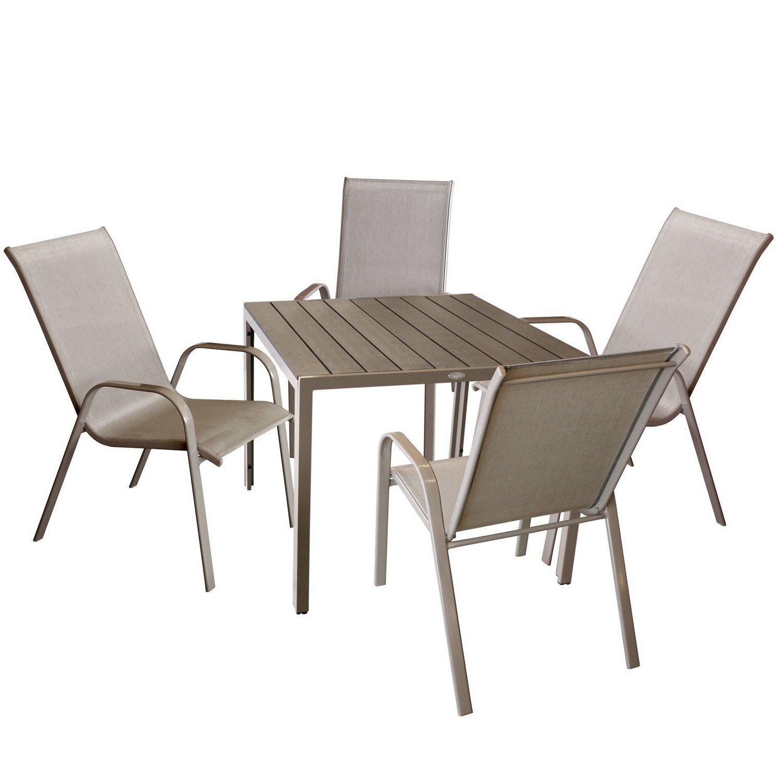 wohaga gartenganitur 5 teilig gartenm bel sitzgruppe balkonm bel bistro set sitzgarnitur. Black Bedroom Furniture Sets. Home Design Ideas