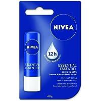 NIVEA Essential Caring 12H Moisture Lip Balm Stick, 4.8 g
