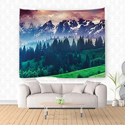 Amazon Com Nalahome Landscape Relaxing Scenery Mountains Forest