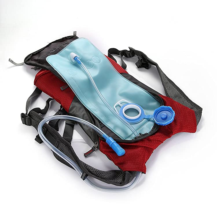 Solar Backpack 7 Watts Solar Panel Charger with 2L Bladder Bag For Biking Charging Mobile Phones, Tablets, Smartphones