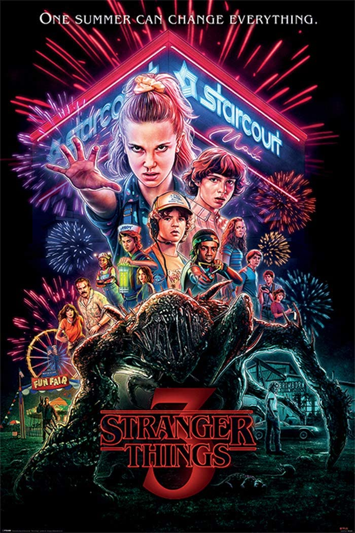 Stranger Things 3 - TV Show Poster (Season 3 - Summer of 85 - Regular Style) (Size: 24 x 36 inches)