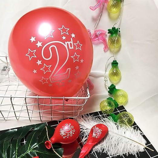 LIUUWO Balloon Rosa Azul 2nd Stars Impreso Pearl Globos de ...