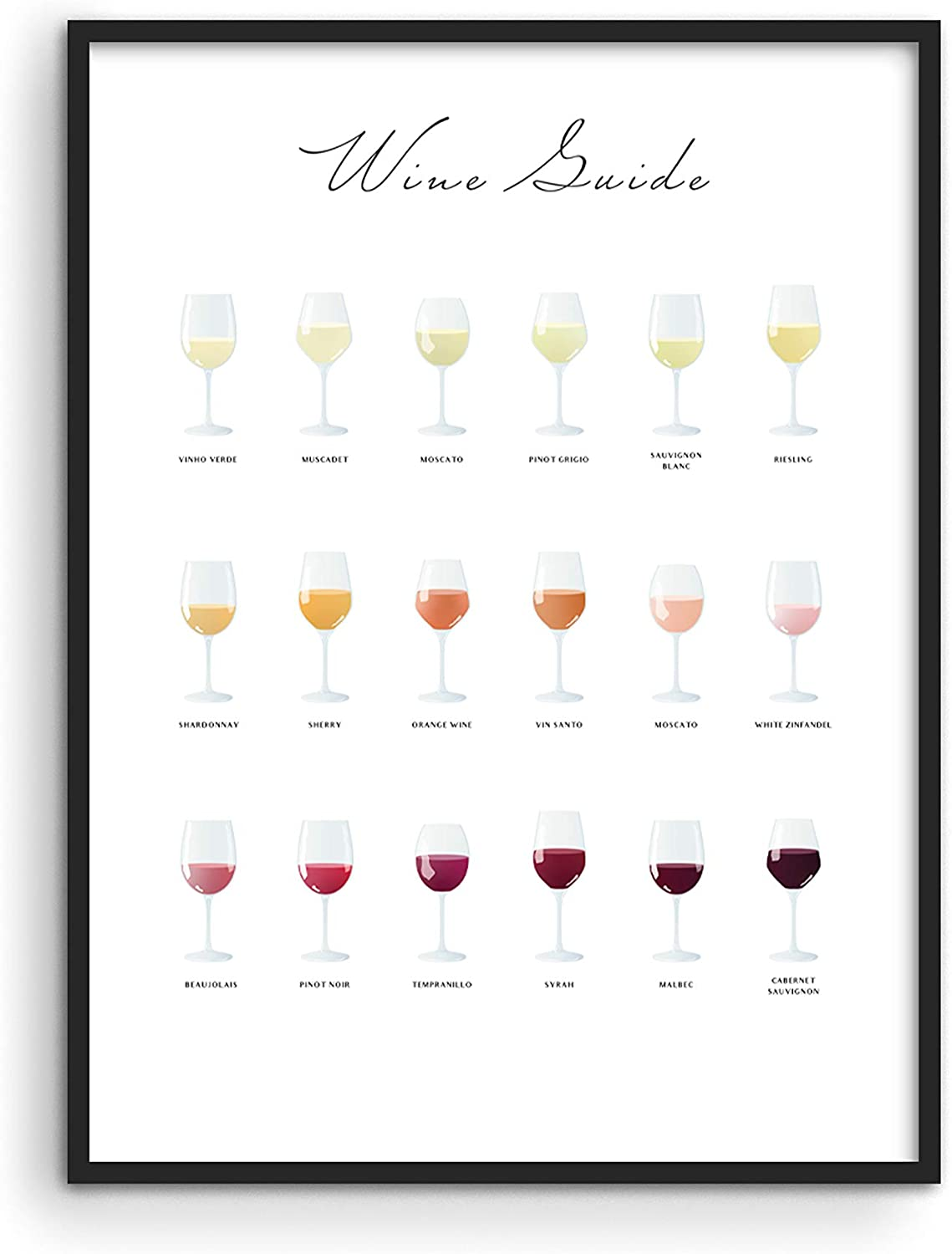 """Wine Poster Wine Prints Wall Art - By Haus and Hues 
