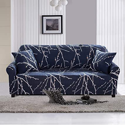 Lamberia Printed Sofa Cover Stretch Couch Cover Sofa Slipcovers for 3  Cushion Couch with One Free Pillow Case (Tree Branch, Sofa 3 Seater)