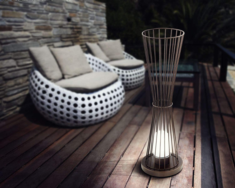 E27 max 1X60W Aussenleuchte Stehleuchte Garden Living TERRICO braun