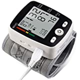 potulas Wrist Blood Pressure Cuff Monitor with USB Charging, Automatic Digital BP Machine,Voice Broadcast, Large Display Scre