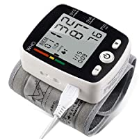 potulas Wrist Blood Pressure Monitor with USB Charging, Portable Automatic Digital...