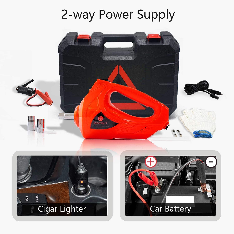 E-HEELP Cric Elettrico Avvitatore Elettrico con Scatola di Immagazzinaggio Paranco Cambio Pneumatici Kit Riparazione Emergenza