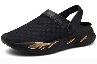 665a746d693 Eagsouni Men s Women s Garden Clogs Mesh Slippers Sandals Breathable Summer Beach  Shoes Lightweight Quick Drying Outdoor