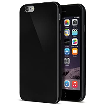 new style 4a4ac a1aab Case Buddy iPhone 6 Case, Solid Jet Black Soft TPU Gel Cover and Screen  Protector for iPhone 6S/6 [Black][4.7