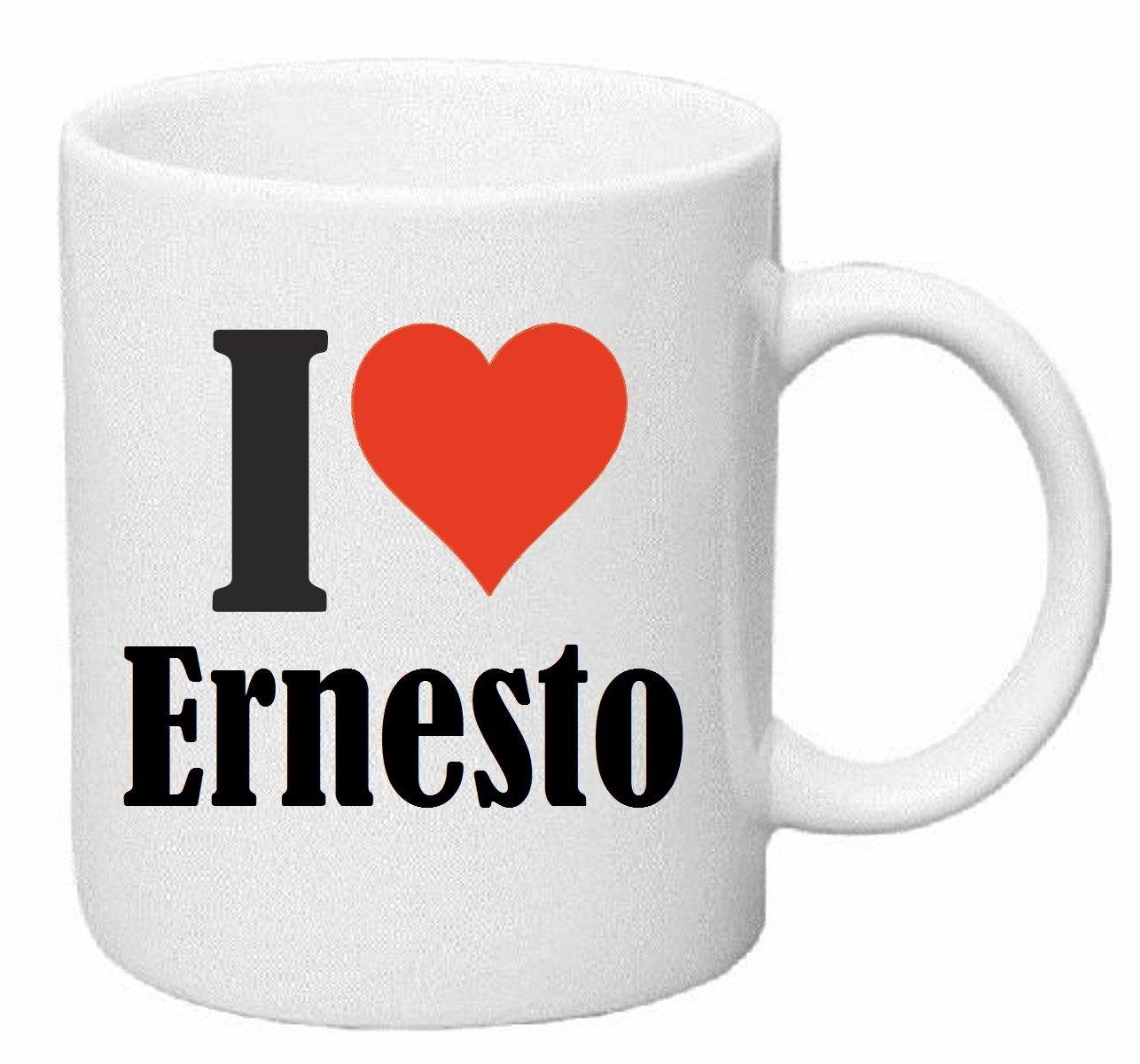 taza para café I Love Ernesto Cerámica Altura 9.5 cm diámetro de 8 cm de Blanco: Amazon.es: Hogar