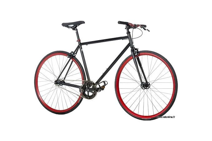Monty Fixie - Bicicleta, Color Negro, 21