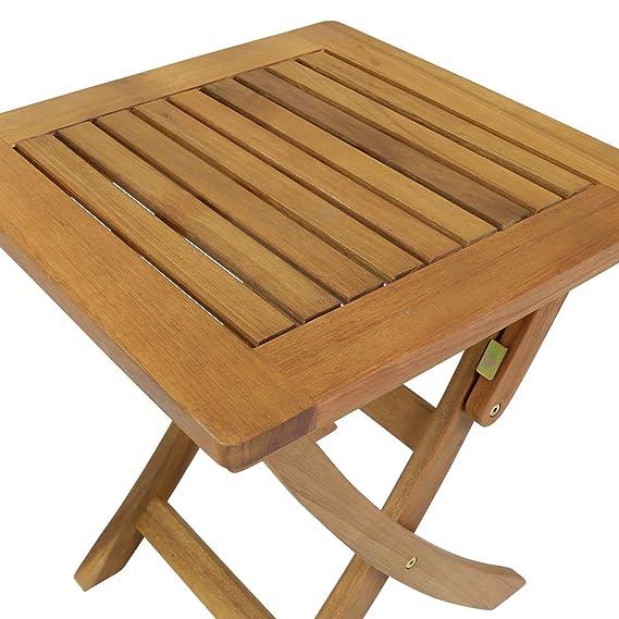 Bentley Gartentisch Klapptisch Bangkirai Holz Quadratisch