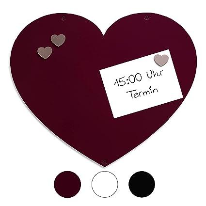 Magn-it - Pizarra magnética (forma de corazón), color negro ...