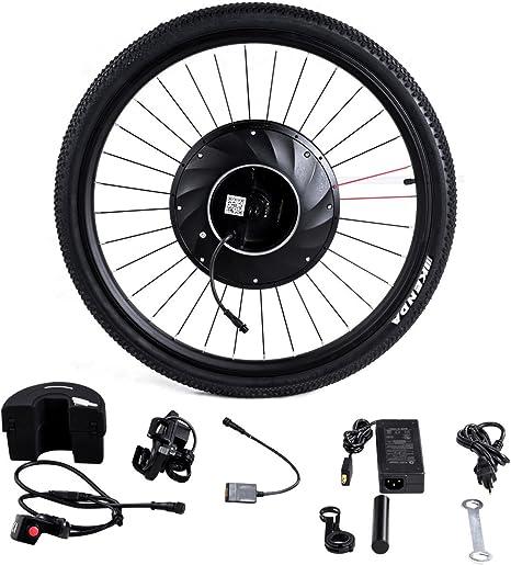 GOPLUS Kit de conversión para Bicicleta eléctrica de 26 Pulgadas ...