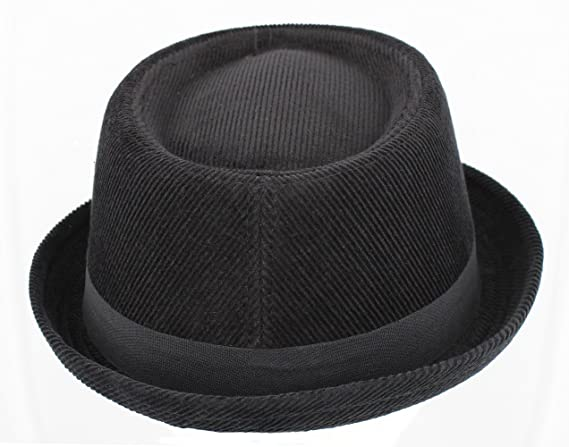 3ef7d560413 Hawkins Headwear Corduroy Black Pork Pie H95 (Unisex Mens Ladies)   Amazon.co.uk  Clothing