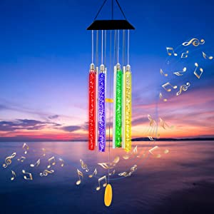 Arsir Solar Wind Chimes for Outside, 37