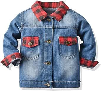 Baby Toddler Girls Denim Jacket Kids Long Sleeve Button Down Jeans Coats Outwear