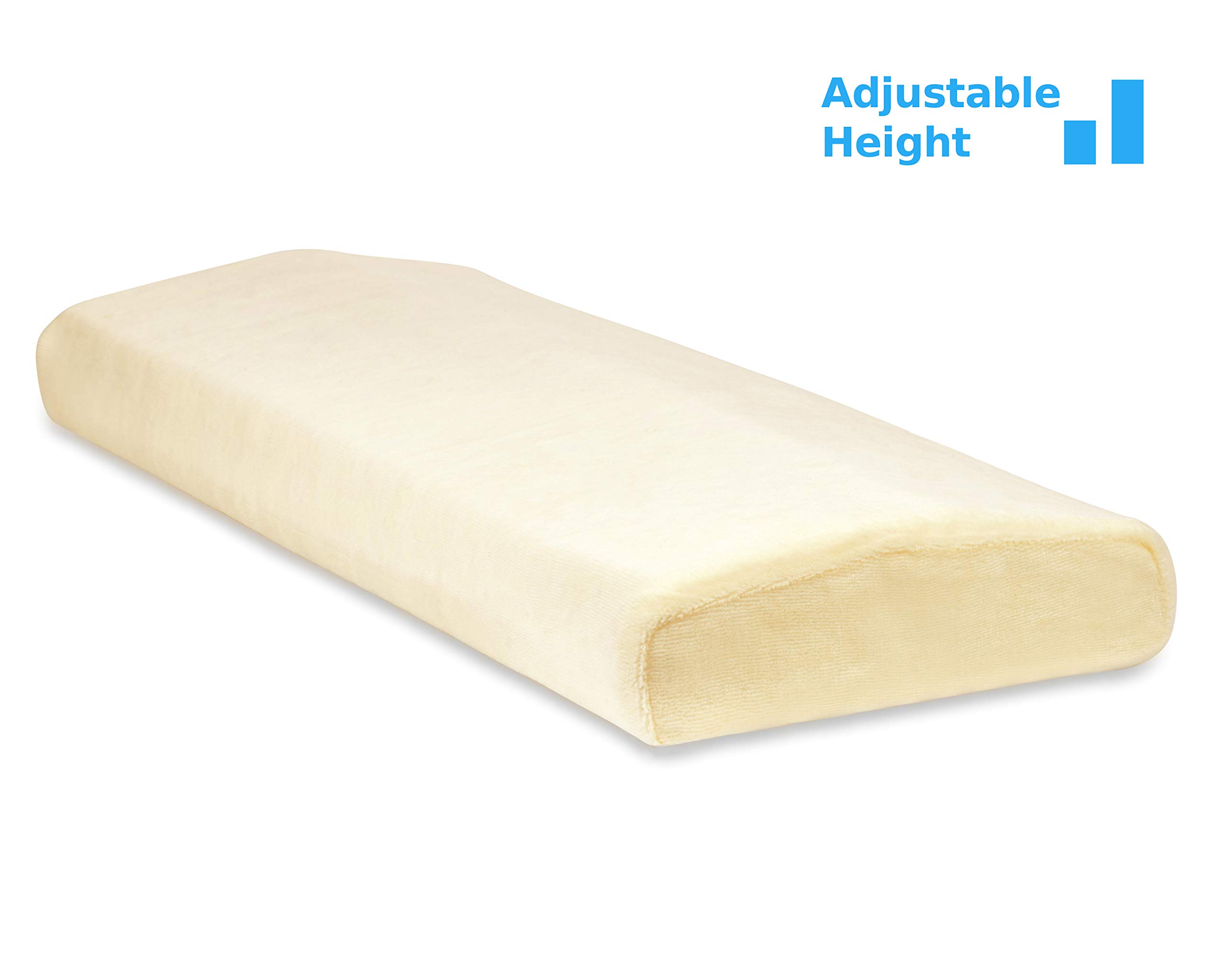 TruContour Super Lumbar Pillow for Sleeping - Adjustable Height - Support The Lower Back in Bed