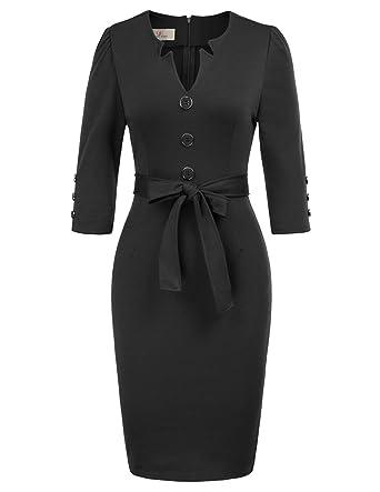 ff51cd96560 GRACE KARIN Women Retro 3 4 Sleeve Work Office Business Pencil Dress ...