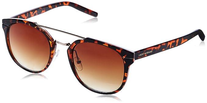 2ea2409396cd Amazon.com: Lucky Mntator52 Round Sunglasses, Tortoise, 52 mm: Clothing