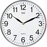 HITO Silent Non-ticking Wall Clock- 10 Inches (Chrome)