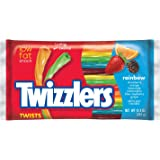 TWIZZLERS Twists, Rainbow Flavored Licorice Candy (Blue Raspberry, Grape, Lemonade, Orange, Strawberry, Watermelon), 12.4 Ounce Bags (Pack of 6)