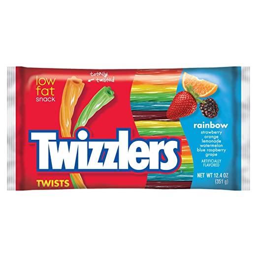 TWIZZLERS Twists (Rainbow Assortment, 12.4-Ounce Bag)