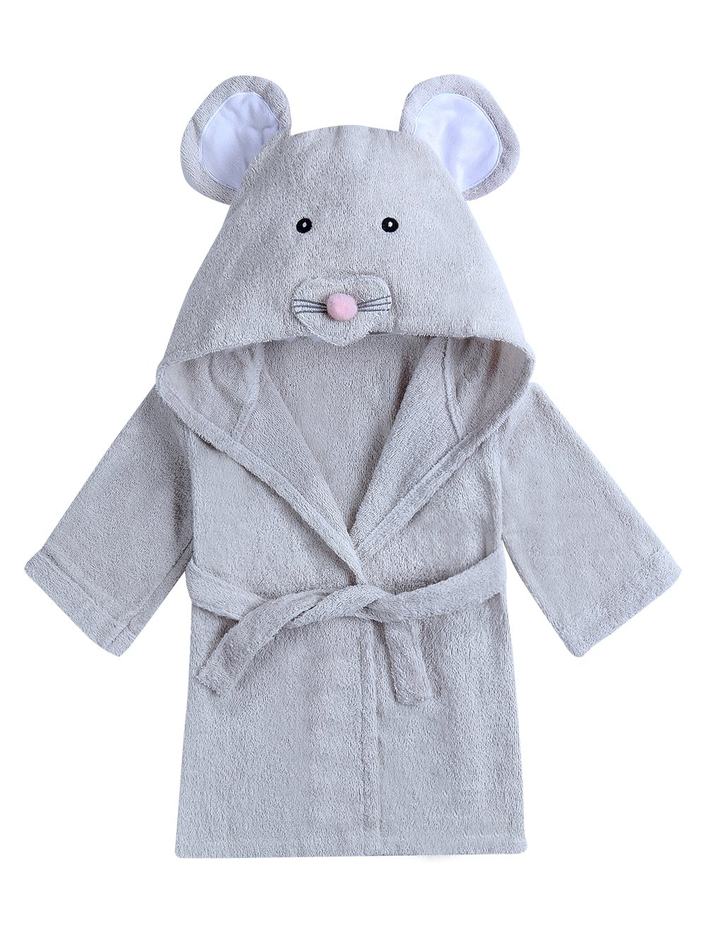 URBEAR Kids Baby Bathrobe Hooded Cartoon Animal Cotton Dressing Gown Supersoft Absorbent Sleepwear for Kids, Rabbit M 2-4 Years C80604YP-RabbitM
