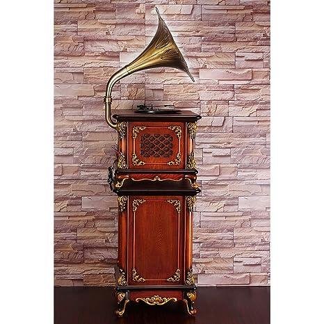 RAPLANC Tocadiscos Retro clásico Big Horn, el Altavoz Retro ...