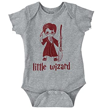 b07cbfec239 Image Unavailable. Image not available for. Color  Brisco Brands Little  Wizard Harry Potter Funny Shirt Hogwart Gift Romper Bodysuit