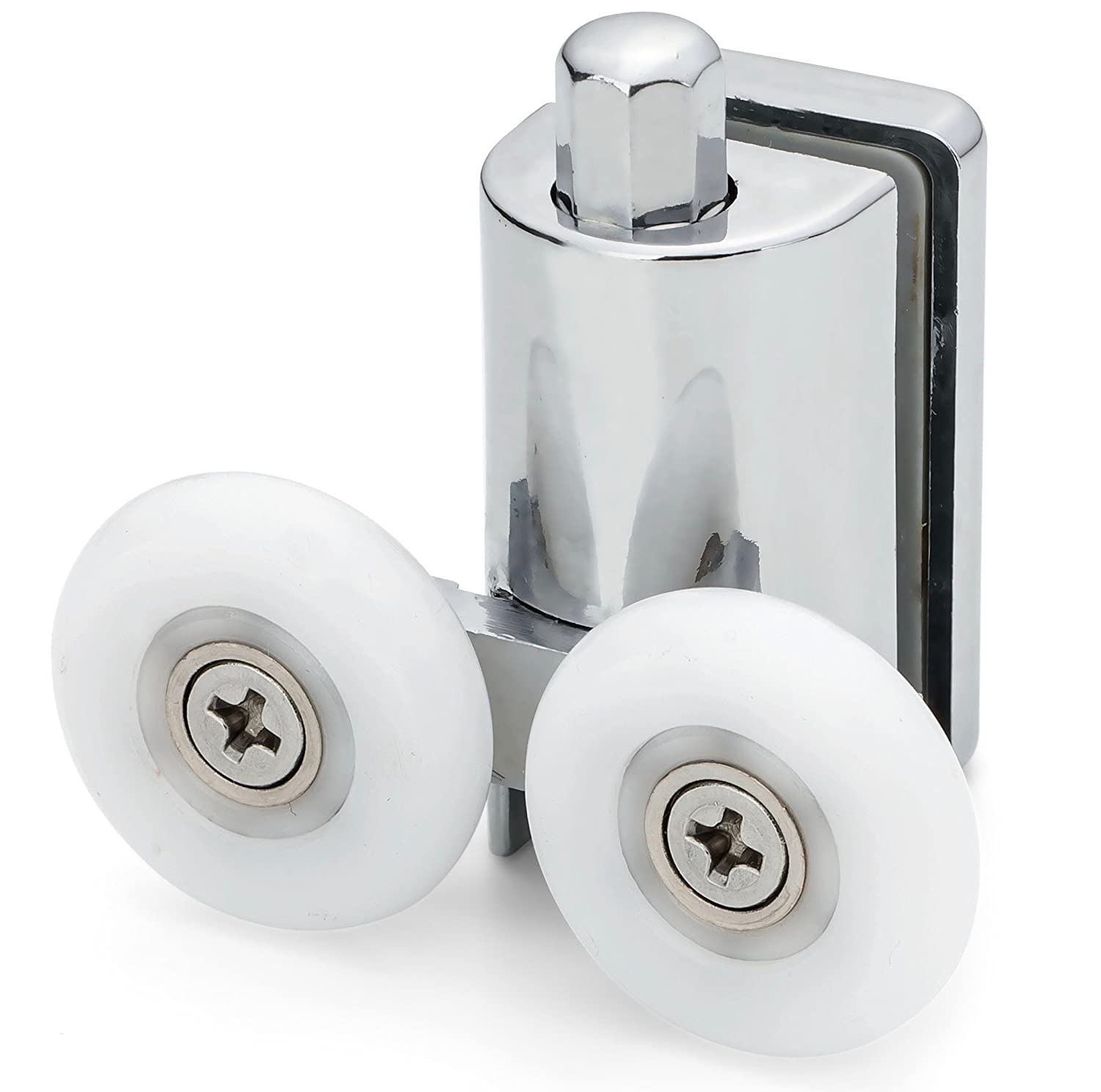 2 x Shower Double/Twin Bottom Door ROLLERS/Runners/Replacements/Spares/Wheels 23mm Wheel Diameter L073 Shower Part