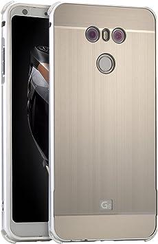 LXHGrowH Funda LG G6, Prueba de Golpes Aluminio Metal Bumper y PC ...