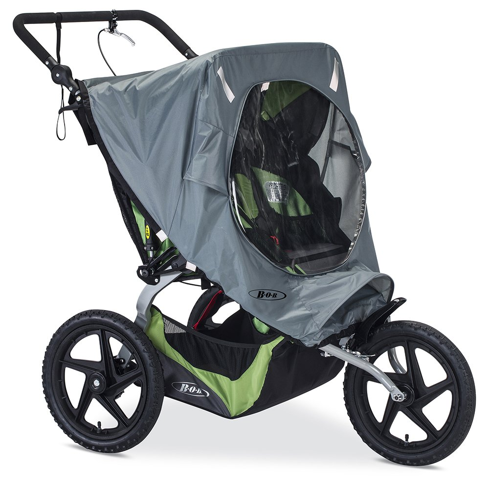 BOB Weather Shield for Duallie Fixed Wheel Jogging Strollers, Grey by BOB Gear