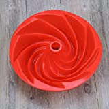 MagiDeal Round Silicone Bundt Cake Pan Mold Kitchen Cookware Spiral Baking Pans Mould