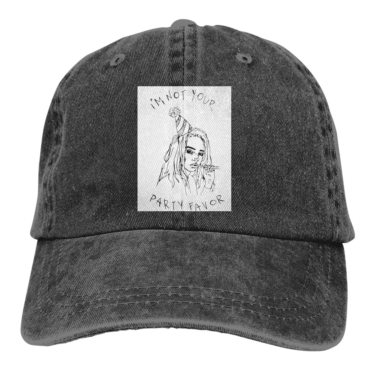 Feeling Unique Billie-Eilish Vintage Jeans Baseball Cap Classic Cotton Dad Hat Adjustable Plain Cap Black 6