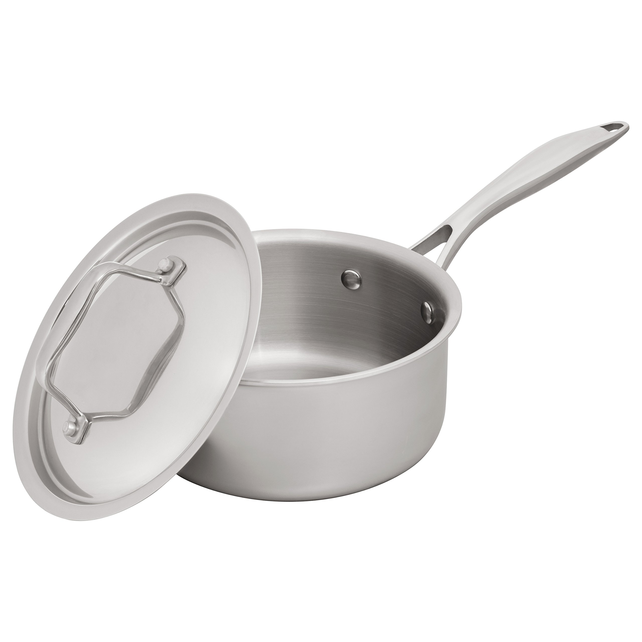 Stone & Beam Sauce Pan With Lid, 1.5-Quart, Tri-Ply Stainless Steel