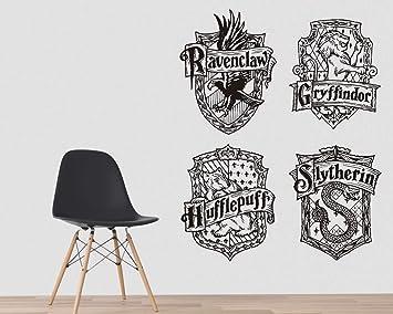 Kuarki Hogwarts Wandtattoo Harry Potter Wandtattoo Gryffindor Slytherin Ravenclaw Hufflepuff Wandaufkleber Film Inspiriert Hohe Qualitat Amazon De Baumarkt