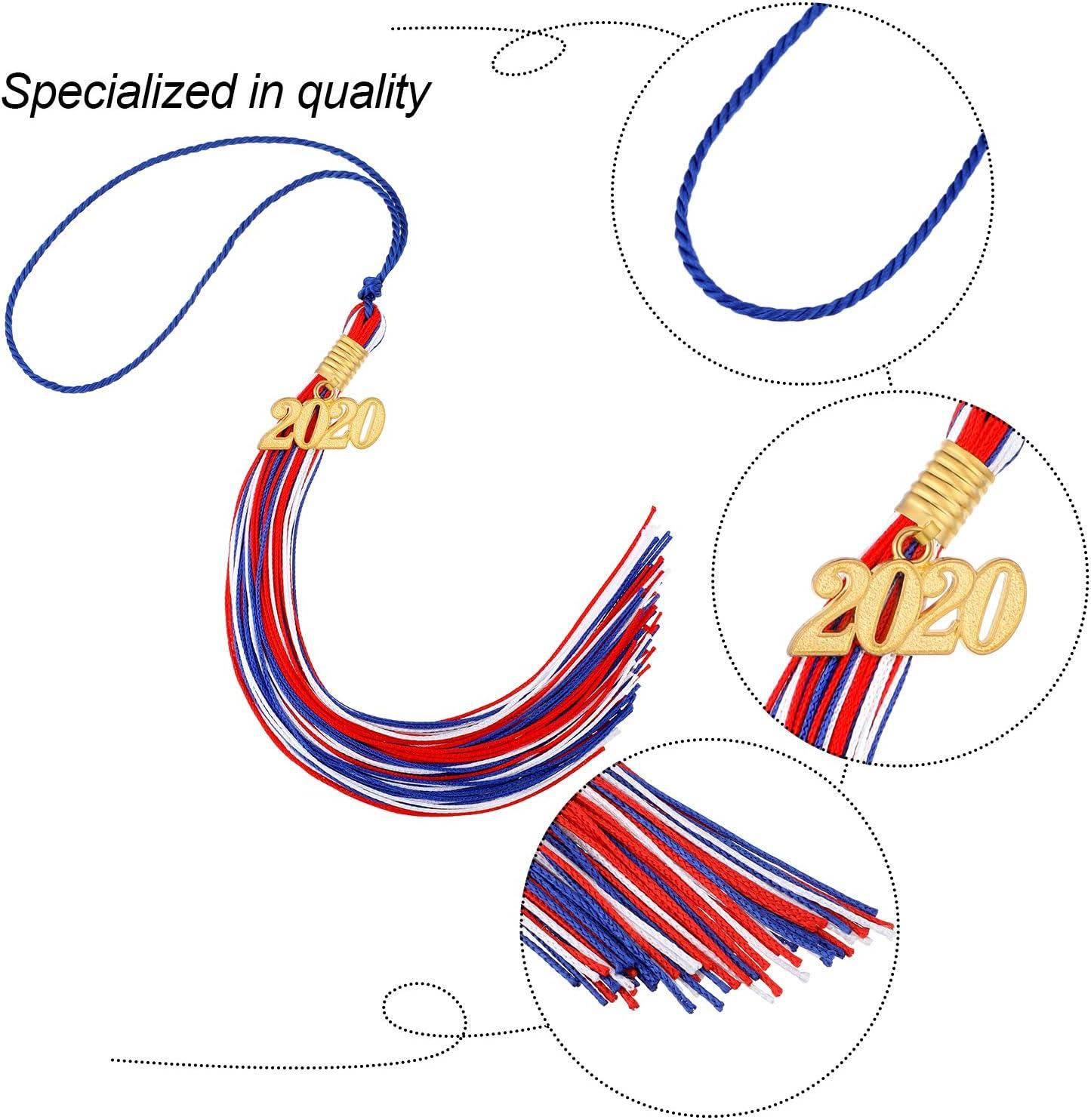 Graduation Tassel Academic Graduation Tassel with 2020 Year Charm Ceremonies Accessories for Graduates Silvery