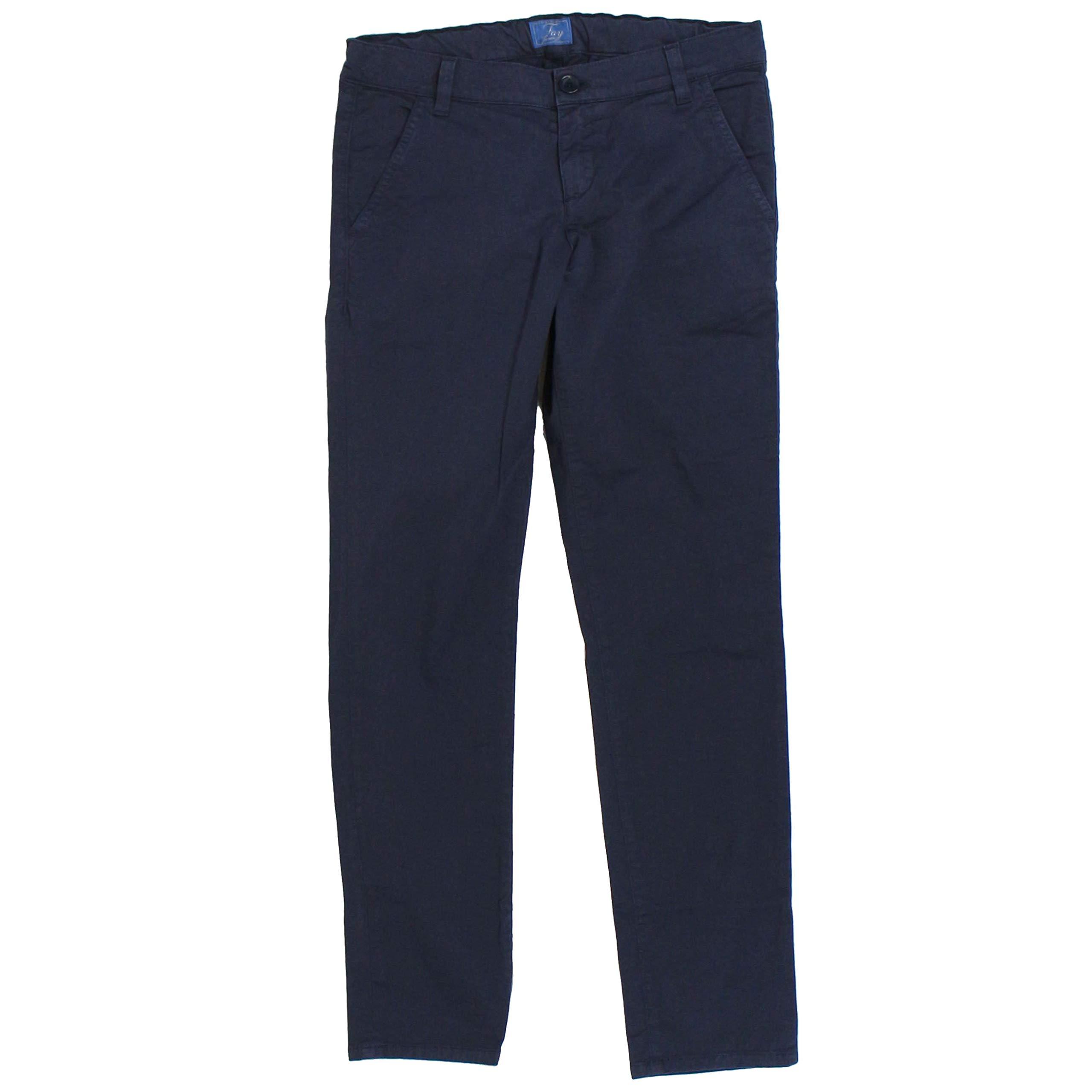fay Boys Nuh8038732tqpsu807 Blue Cotton Pants