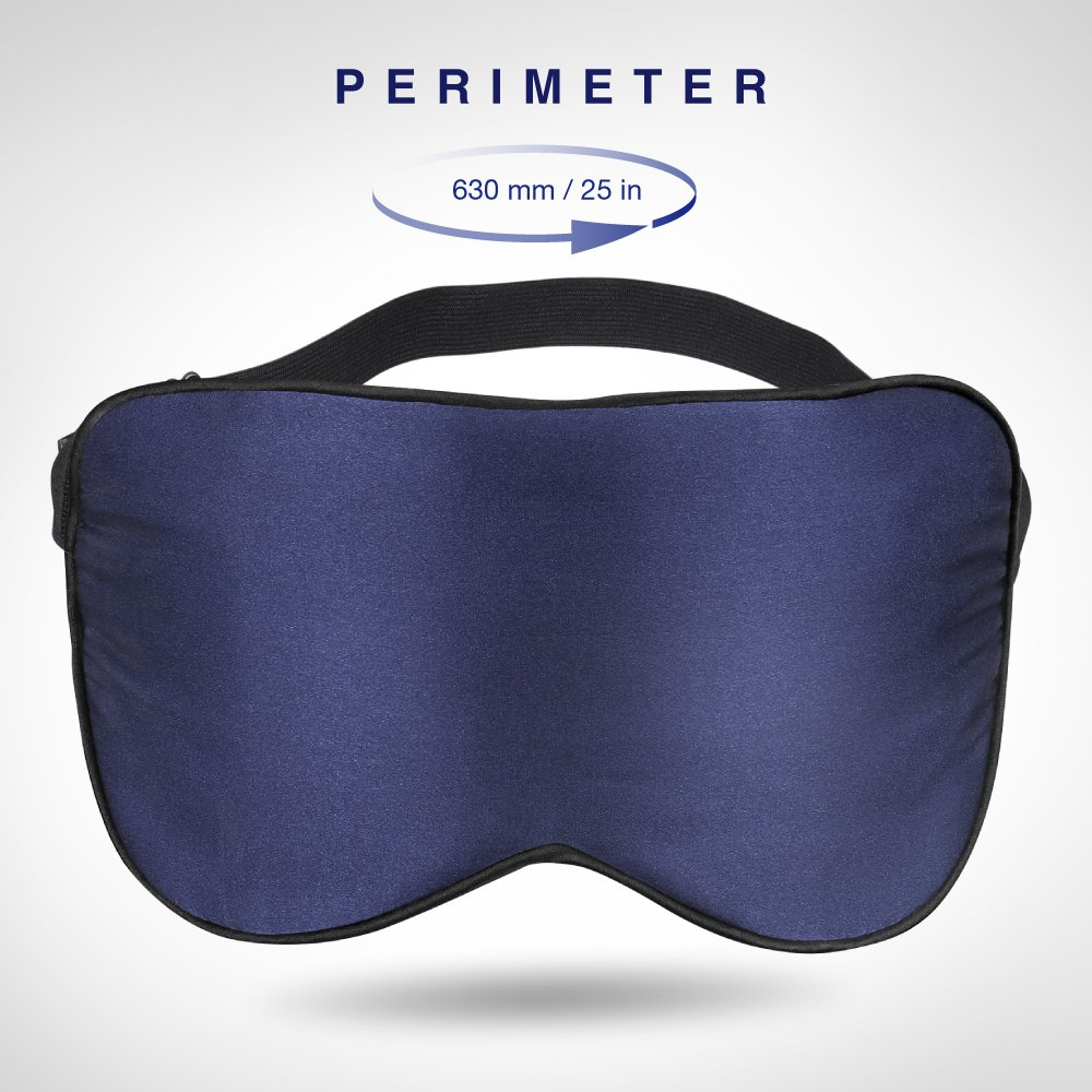 Plemo Upgraded Sleep Mask, 100% Pure Silk Eye Cover with Reusable Ice Pack for Hot & Cold Therapy, Comfortable & Super Soft Eye Mask With Adjustable Strap