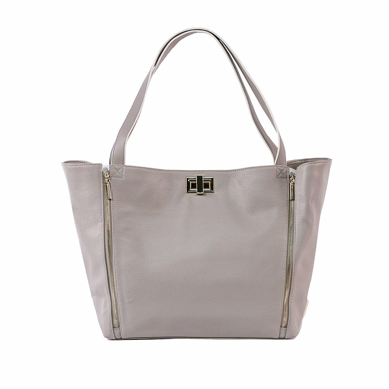 Rosie Pope Diaper Bag, Sloane Tote, Grey/White