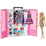 Barbie Fashionistas Ultimate Closet Portable Fashion Toy with Doll, Clothing, Accessories and Hangars, Gift for 3 to 8 Year Olds