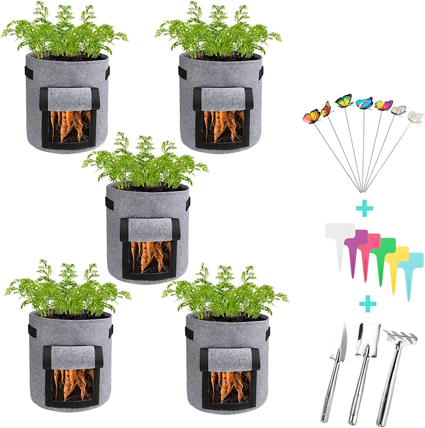 Gallons Potato Planting Bags Planter Growing Garden Flower Vegetable Container